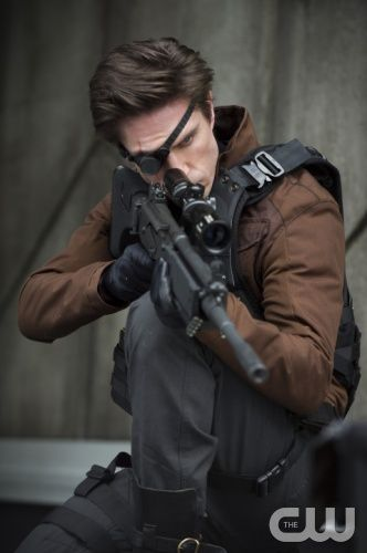 "Arrow -- ""Suicide Squad"" -- Image AR216a_0018b -- Pictured: Michael Rowe as Floyd Lawton (""Deadshot"") -- Photo: Cate Cameron/The CW -- © 2014 The CW Network, LLC. All Rights Reserved."