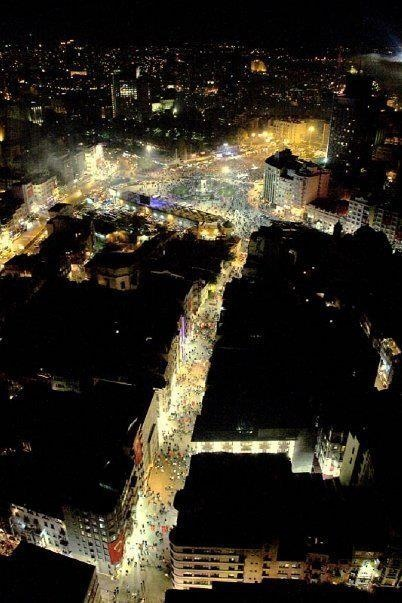 Istiklal Street and Taksim by Night