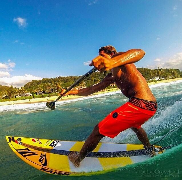 Kai Lenny --  SUP racer/surfer, and big wave surfer, from Maui