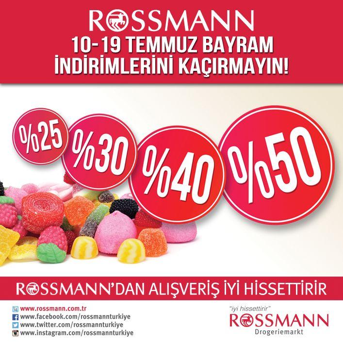 Rossman #ANKAmall'da!  Bayrama özel Rosmann indirim fırsatlarını kaçırmayın!
