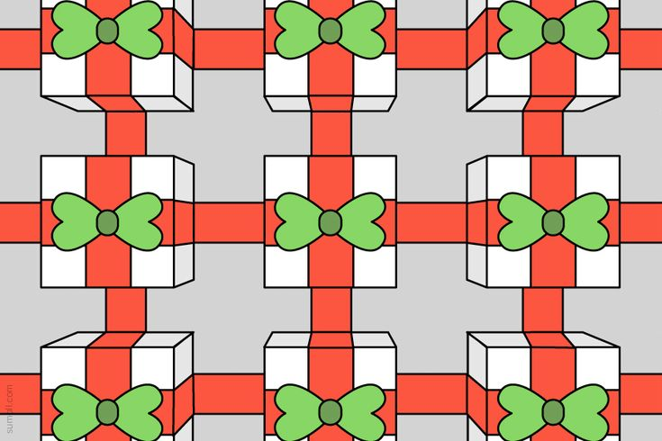 holiday Christmas time presents bows boxes red green gift giving pattern design illustration Free Images Marketing SumAll