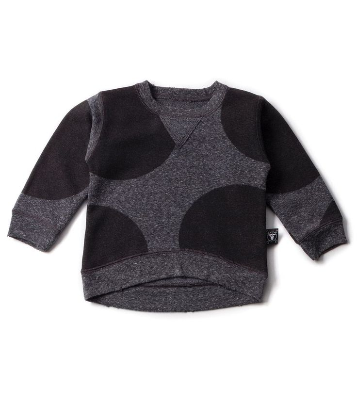 Our Brands :: Nununu :: Circle Patch Pullover Charcoal -