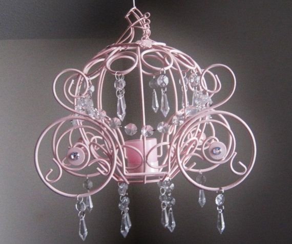 for a girls Cinderella room     Cinderella Collection Coach One Candle by ShabulousChandeliers, $68.00