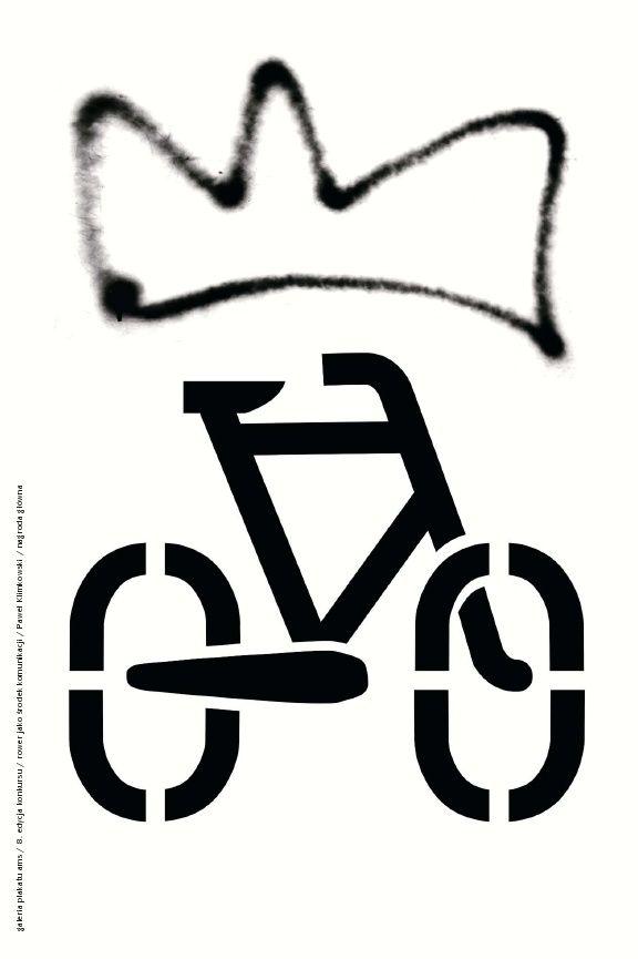 MYŚL ROWEROWO! / THINK BICYCLE! 8. edycja konkursu Galerii Plakatu AMS, temat: promocja roweru jako środka komunikacji w miastach (2008)/ 8th edition of the AMS Poster Gallery competition, theme: promotion of the bicycle as a mean of transportation in cities (2008) PAWEŁ KLIMKOWSKI - NAGRODA GŁÓWNA