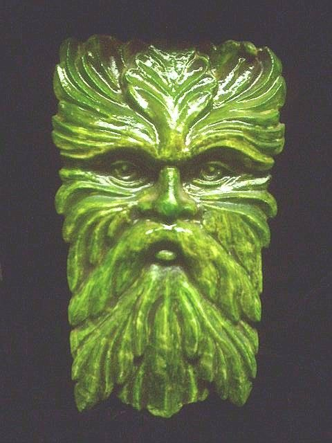 Wise Old Greenman Wall Hanging Celtic Home By TheNeonGargoyle,