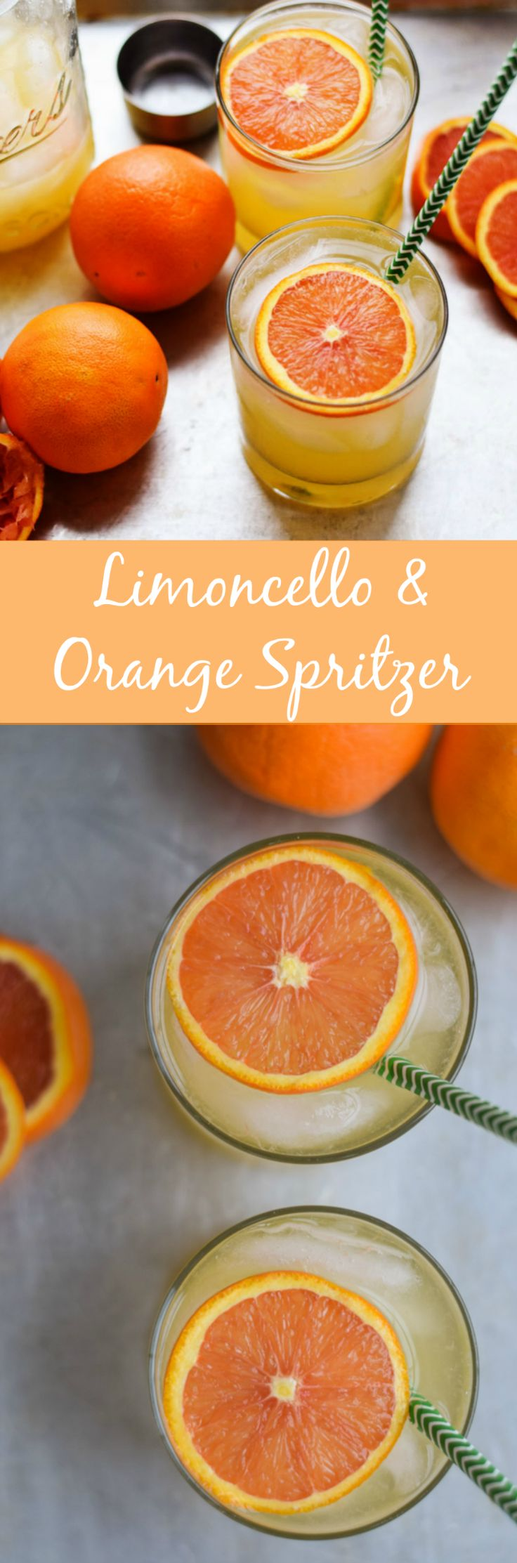 Limoncello and Orange Spritzer | A refreshing, sunny drink recipe that's perfect for any time of the year.