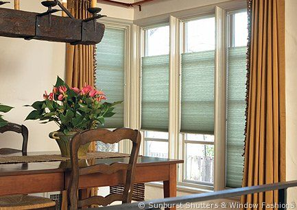 Top down bottom up shades sunburst shutters booth 119 for Window design 4 4