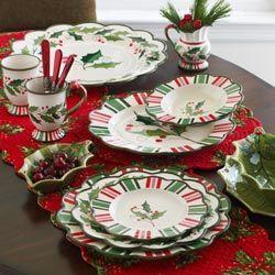 57 Beautiful Christmas Dinnerware Sets: Victorian Christmas dinnerware and accessories