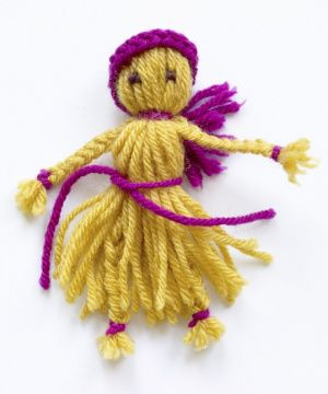 no knit projects with yarn to do with your children.  From Lion brand yarn.
