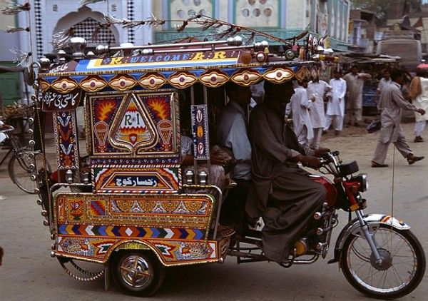 Decoration and design is very popular in public transport for Auto decoration in pakistan