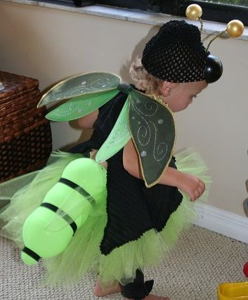 Picture of FIREFLY  with illuminated tail (Lantern) costume idea!