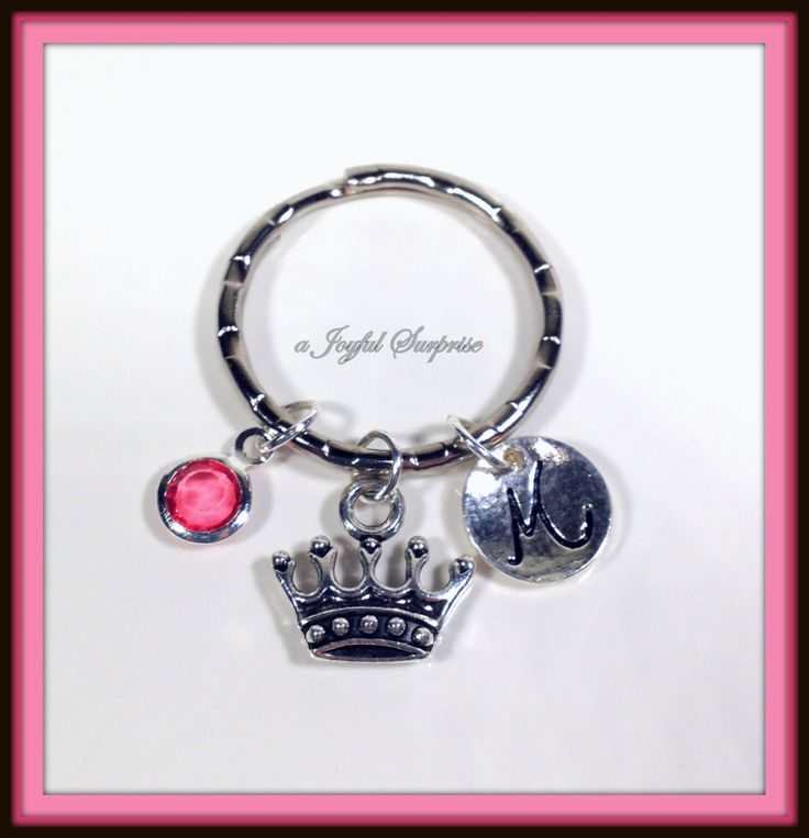 A personal favorite from my Etsy shop https://www.etsy.com/ca/listing/259102624/sale-tiara-keychain-personalized-tiara