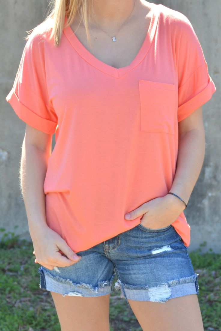 Not Your Boyfriends Tee - Coral