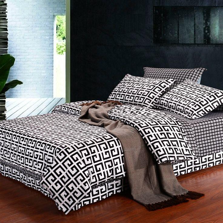 17 best images about black and white bedding on pinterest. Black Bedroom Furniture Sets. Home Design Ideas