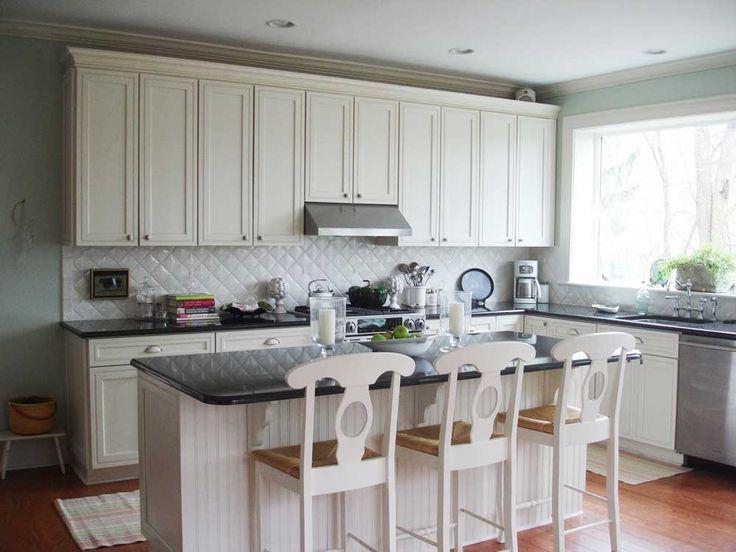 Mosaic Tile For Kitchen Ideas with Black And White Kitchen Backsplash