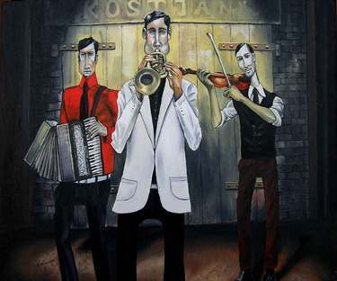 "Saatchi Online Artist Karol Kostjan; Painting, ""You have to know how to play- To play the opposite"" #art"