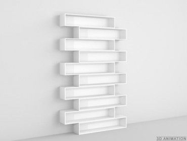 CD rack made of MDF in white
