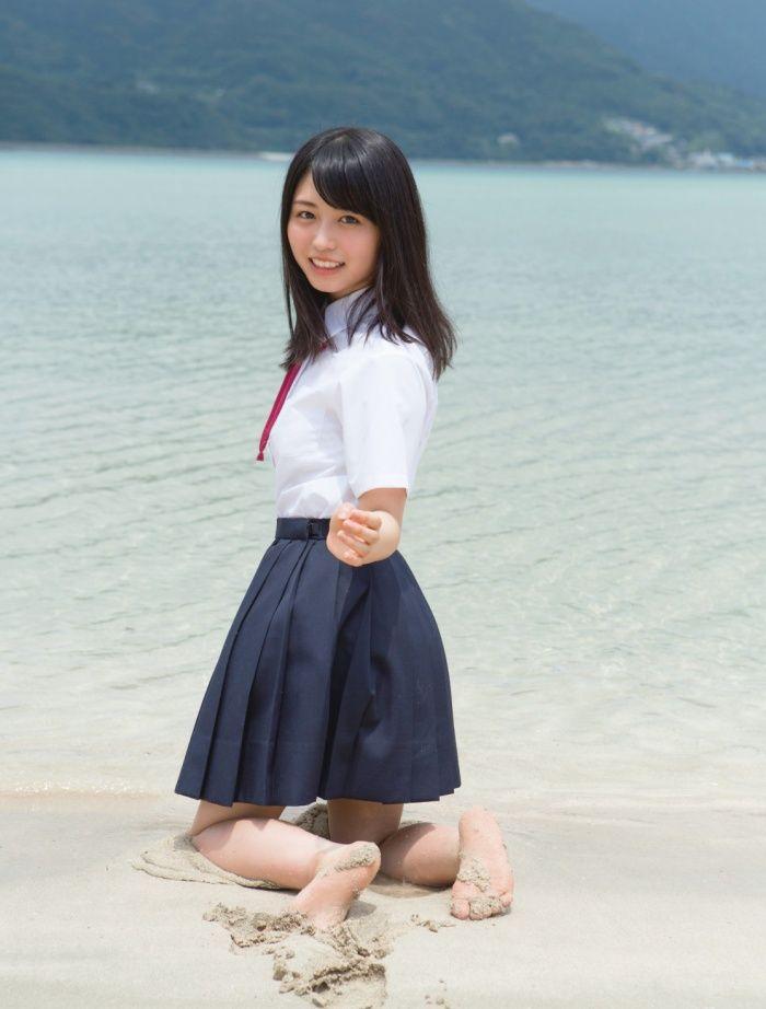 (画像4/9)欅坂46長濱ねる、白ビキニで美バスト解禁!話題の1st写真集「ここから」先行カットが続々公開