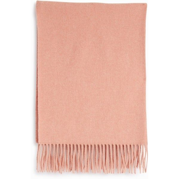 Acne Studios Canada Wool Scarf (€170) ❤ liked on Polyvore featuring accessories, scarves, acne studios, pink shawl, short scarves, woolen scarves and wool scarves