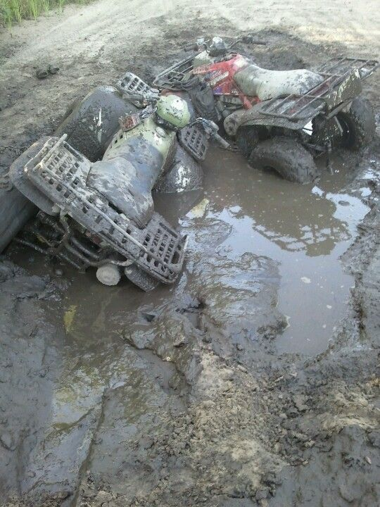Muddin with 4wheelers! <3 Its been A LONG time since ive been ridin!