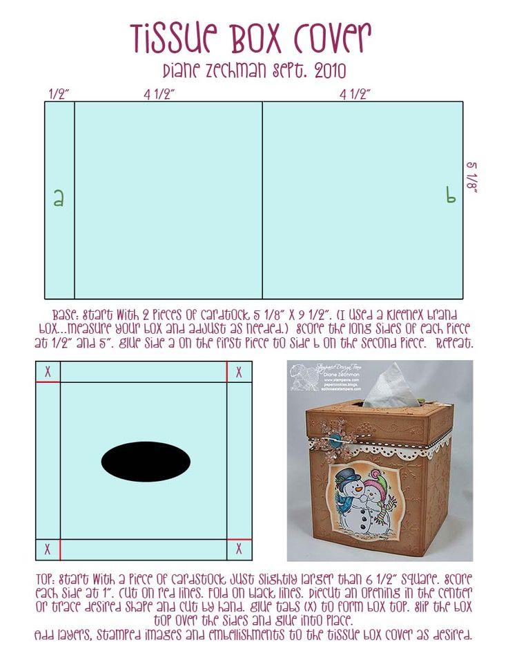 square tissue box cover template 2