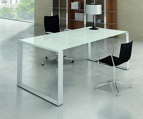 glass desks - Designer Glass Desk