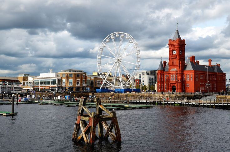 Cardiff Bay Waterfront in Wales