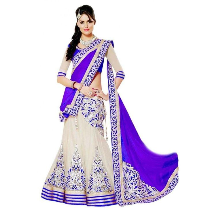 Fashionx purple net unstitched lahenga choli