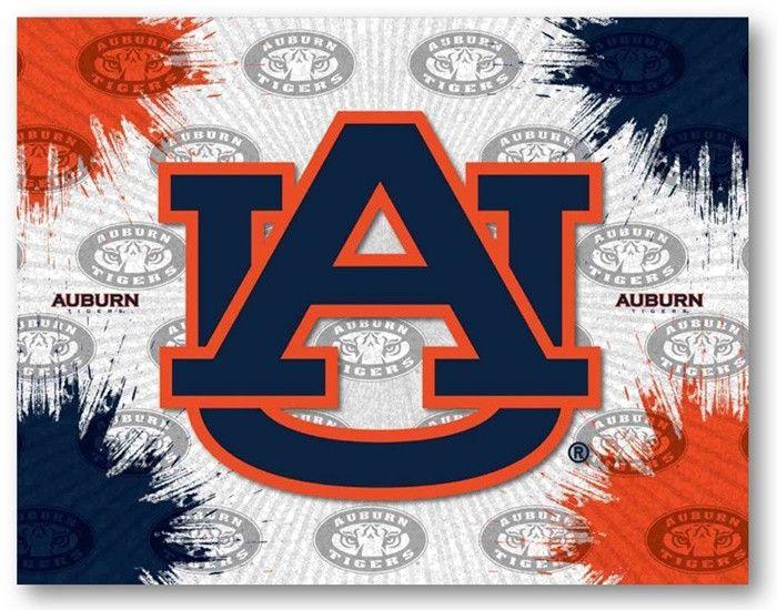 Auburn Tigers D1 Printed Logo Canvas.  Visit SportsFansPlus.com for Details.
