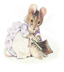 Beatrix Potter - Hunca Munca . I basically grew up on her stories.