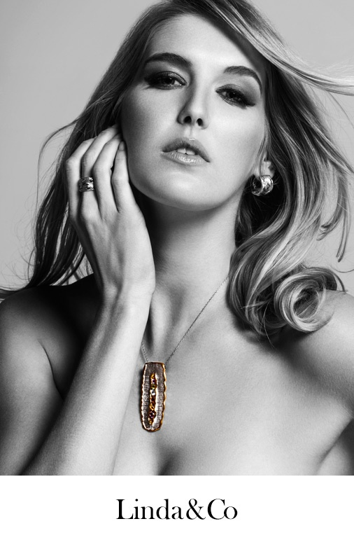 This is a shoot for Linda & Co Jewelers. Photographer: James Mills Model: Caroline Pemberton Hair and Make Up: Jess Berg With thanks to Content Kitchen Studio.