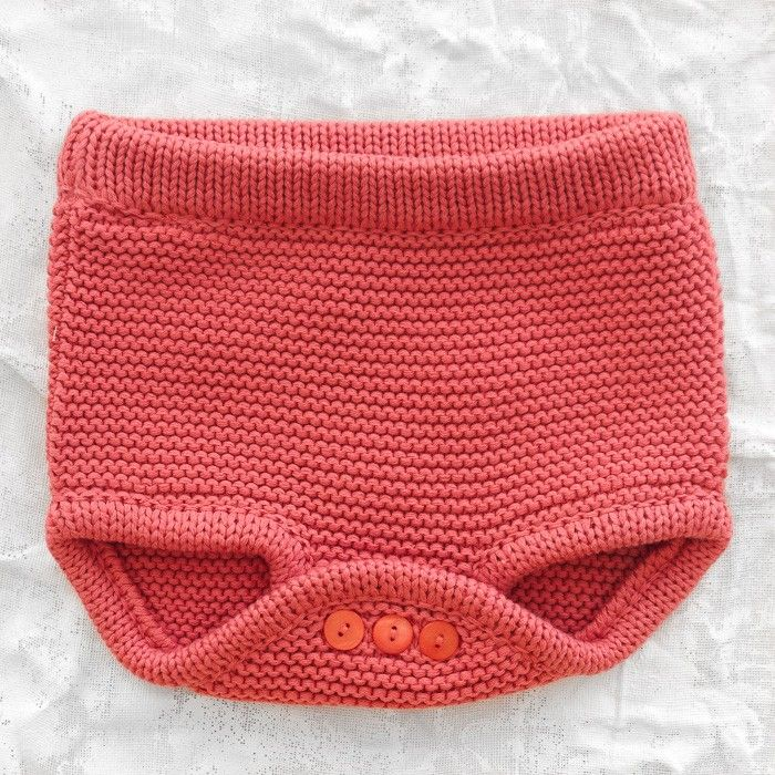 Seesaw - knitted culotte strawberry