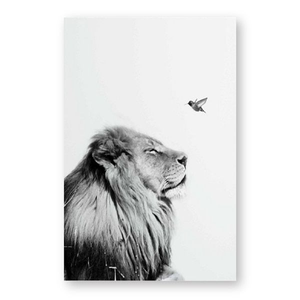 Wall Art Canvas Painting Black And White Lion Posters And Prints Wild Animal Lion Wall Pictures Nursery Art Dec Lion Poster Black And White Lion Lion Wall Art
