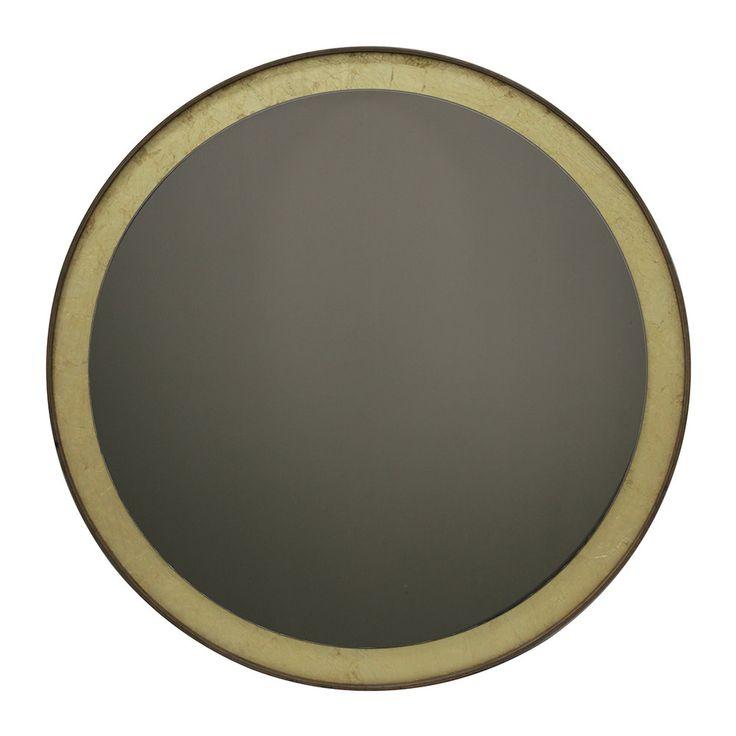 Buy Notre Monde Gold Leaf Bronze Round Wall Mirror | Round ...