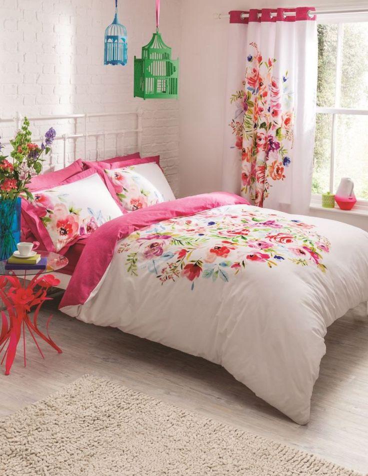 Pościel dwustronna Bright Floral #kwiaty #flowers #home #inspiration #dom #dekoracje #poszewki #tkaniny #