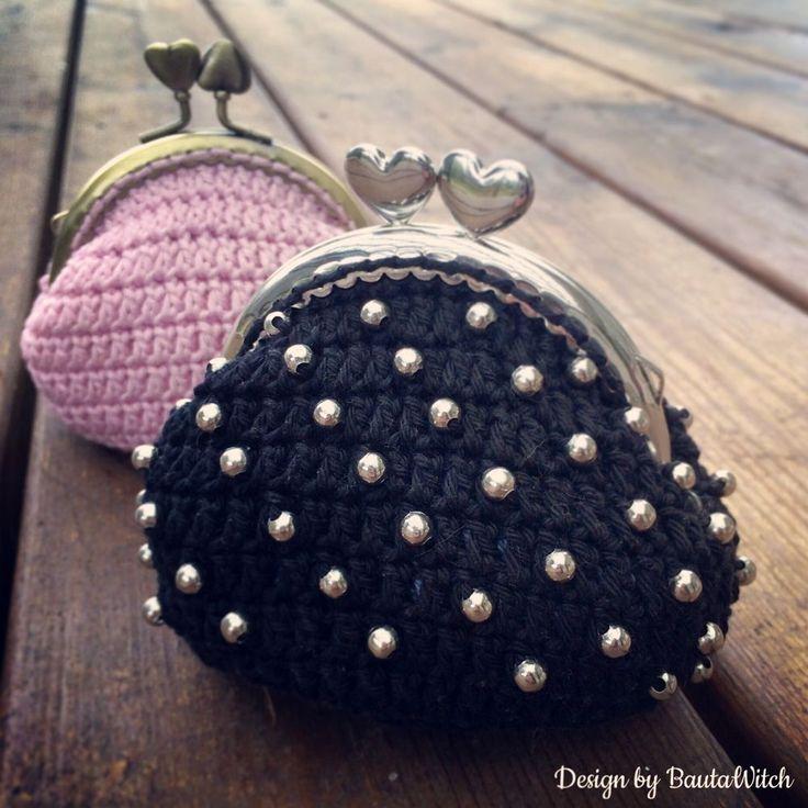 DIY - Liten virkad portmonnä med pärlor