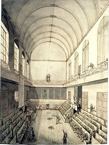 The Ménage-where the Legislative Assembly met to discuss business. It was here the Royal family sought refuge from the assault on the Tuileries Palace on 10th August 1792.