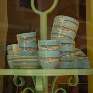 Delightful hand-painted pottery, in a little shop in Anzio called Note Marine.