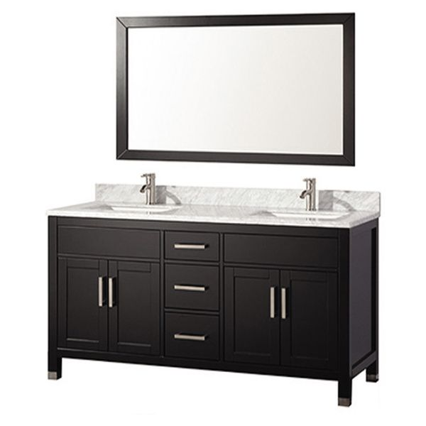 Mtd vanities ricca 60 inch double sink bathroom vanity set with free mirror and faucet by mtd for Caroline 60 inch double sink bathroom vanity set