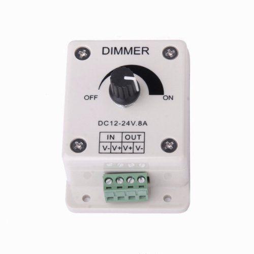 DC 12V-24V 8A interrupteur variateur / dimmer Contrôleur de la luminosité de LED Ampoule: Price:2Vous pouvez facilement régler la…
