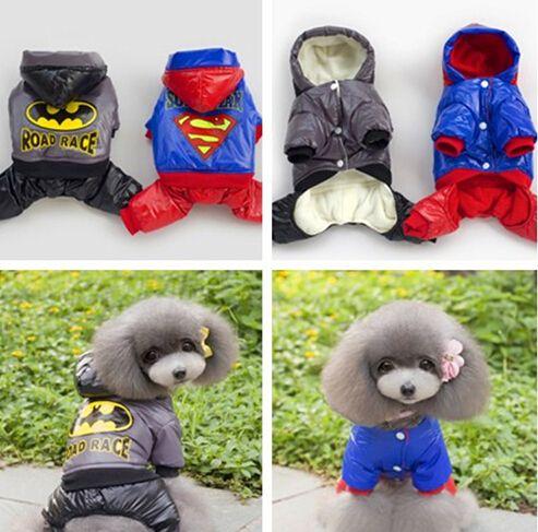 Тепло зимой собака перемычка густой шерсти мода балахон собачки одежды щенок комбинезон собака одежды дешевая распродажа размер ( S-XXL )