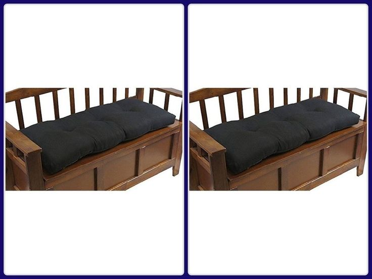 Indoor Bench Cushion 36In W/ Gripper Non Slip Universal Pillow Pad Midnight New #cushion
