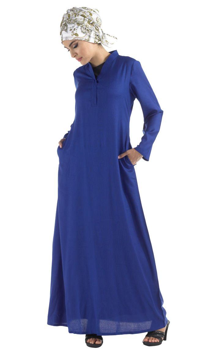 Rayon High Collar Abaya.