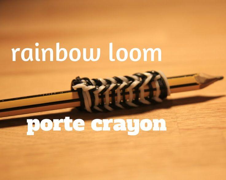 Rainbow Loom Tuto Comment Faire Un Porte Crayon Avec Des Lastiques Loom Pinterest Crayons