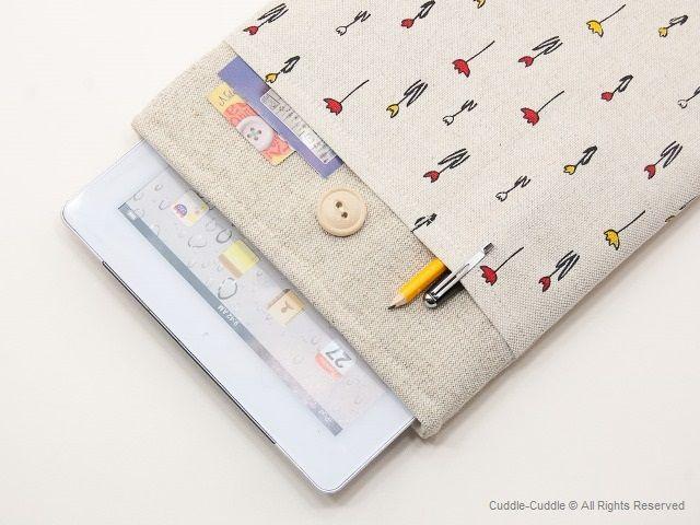 #iPad case, #hand made Gadget Case, http://cuddle-cuddle.com/?product_cat=ipad-cases-linen