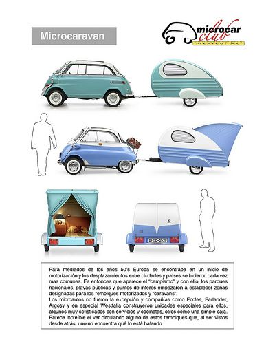 BMW ISETTA 600 Y 300 1958 con Microcaravan | Micro Caravan | microcarclubmexico | Flickr