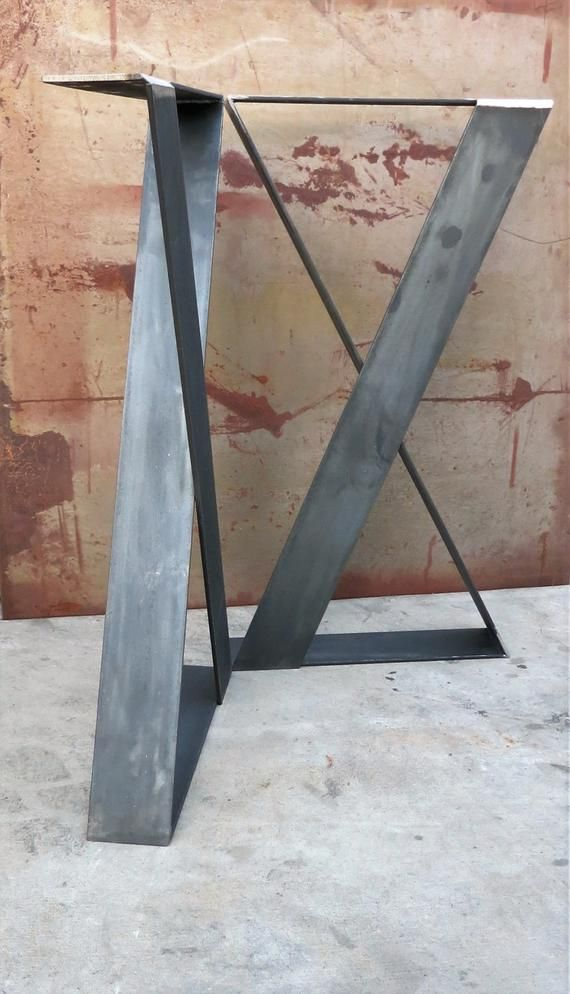 Pieds De Table En Metal Z Lot De 2 4 X 1 4 Etsy Metal Table Metal Table Legs Table Legs