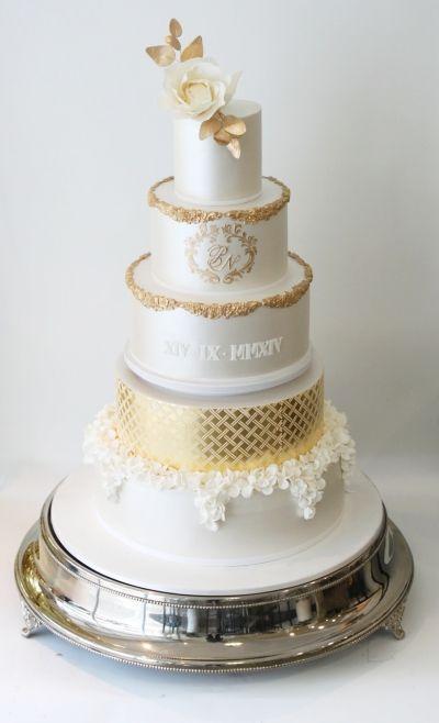 Fancy Roman Numeral  On A Birthday Cake