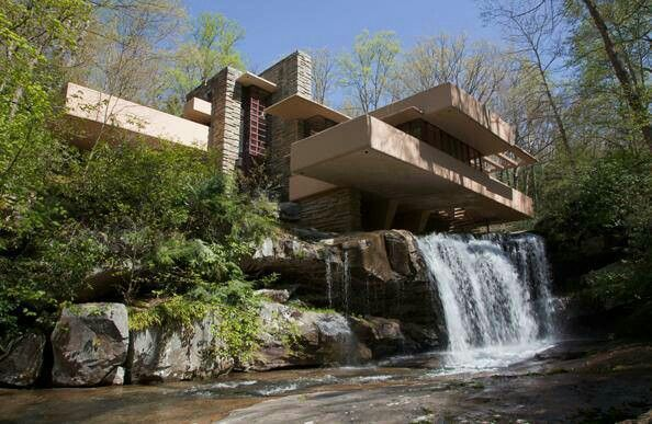 falling water house frank lloyd wrigth architecture pinterest falling waters frank lloyd. Black Bedroom Furniture Sets. Home Design Ideas