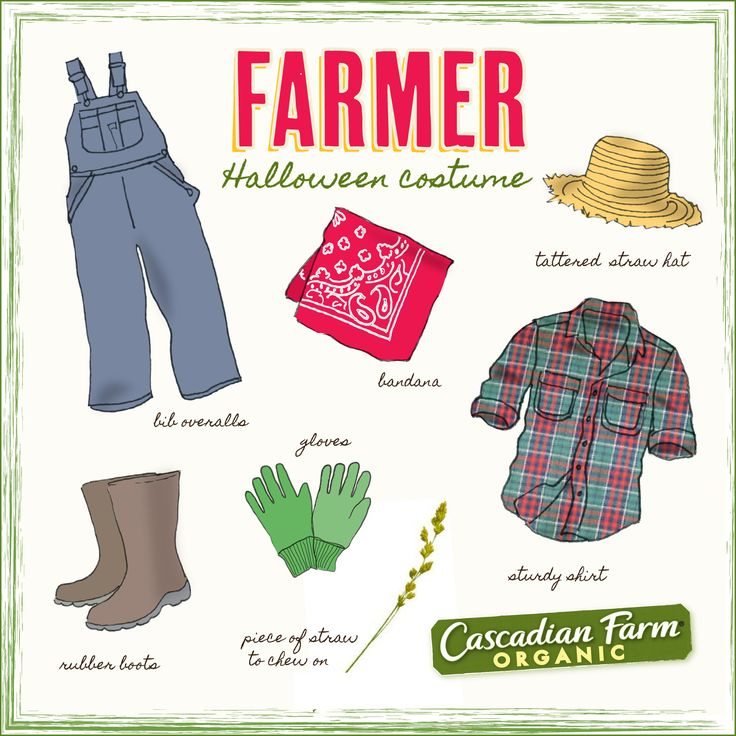 "Halloween costume idea. Dress like a ""classic"" farmer!"